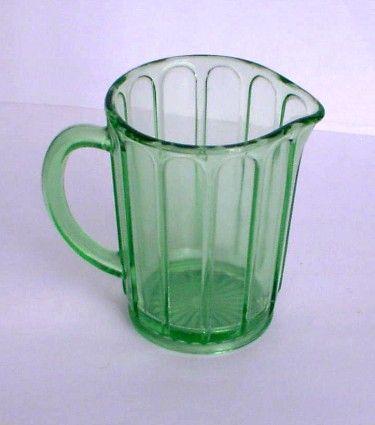 Pitcher Depression Green Glass Hazel Atlas Medium